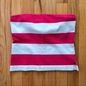J. Crew Wide Striped Cotton Crop Top, Bra Top XS
